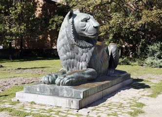 Lion sculpture in Sofia, Bulgaria