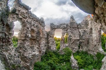 Old castle ruins in Transcarpathian