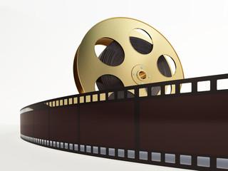 film reel with a film strip
