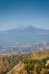 Etna, wiew from Taormina, Sicily ,Italy.