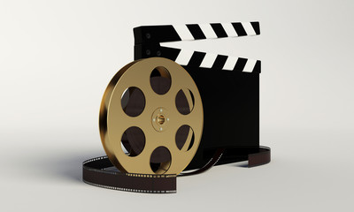 Film and clap board,video icon