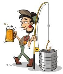 Drunk fisherman