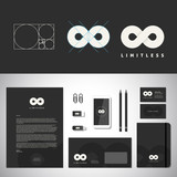 Limitless Abstract Logo Template and Identity poster