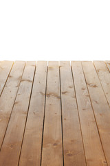 Wooden board isolated white