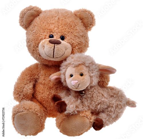 toy teddy bear with sheep