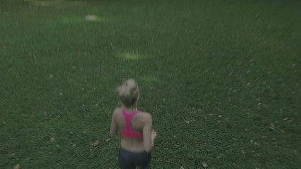 Pretty athlete during the jogging