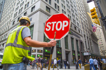 Road Worker in New York City