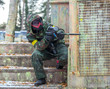 Extreme tactical military training with paintball guns