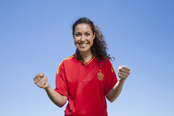 happy spanish supporter