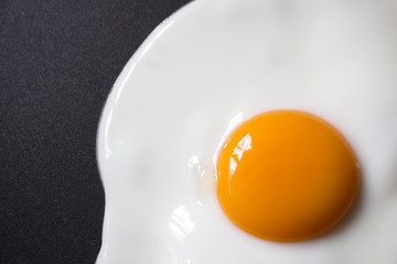 close up Fried egg on frying pan