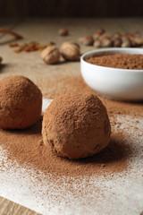 tartufi di cioccolato con cacao