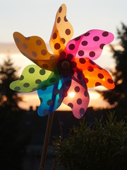 pinwheel sunset outdoors