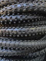stack of mtb tyres