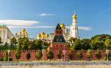 Fototapeta Churches in Moscow Kremlin over the river