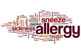 Allergy word cloud