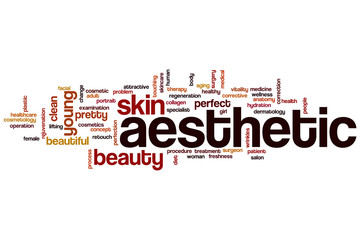 Aesthetic word cloud