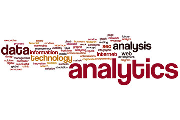 Analytics word cloud