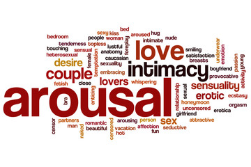 Arousal word cloud