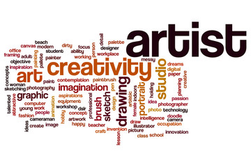 Artist word cloud