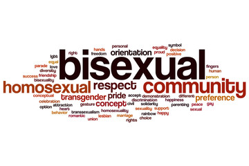Bisexual word cloud
