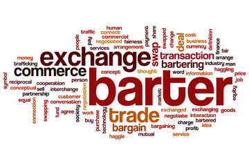 Barter word cloud