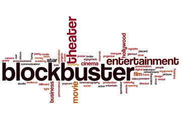 Blockbuster word cloud