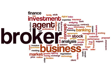 Broker word cloud