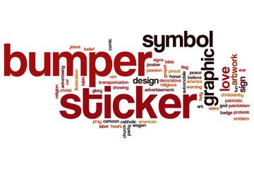 Bumper sticker word cloud