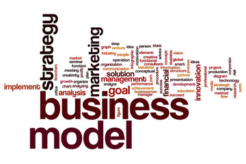 Business model word cloud
