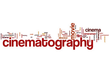 Cinematography word cloud