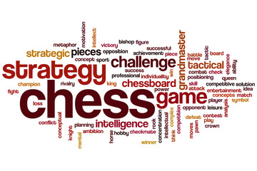 Chess word cloud