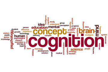 Cognition word cloud