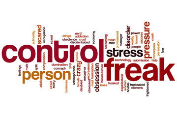 Control freak word cloud