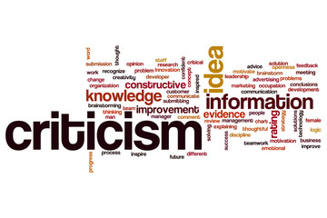 Criticism  word cloud