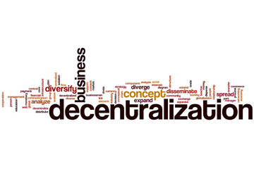 Decentralization word cloud