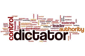 Dictator word cloud
