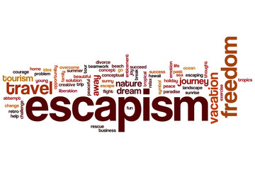 Escapism word cloud