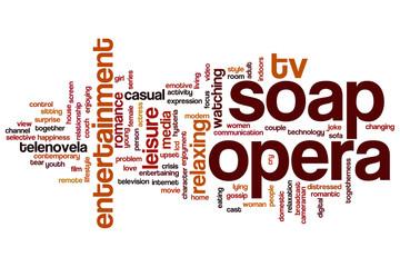 Soap opera word cloud