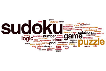 Sudoku word cloud