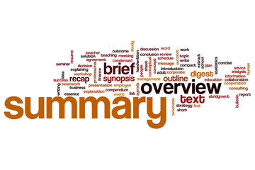 Summary word cloud