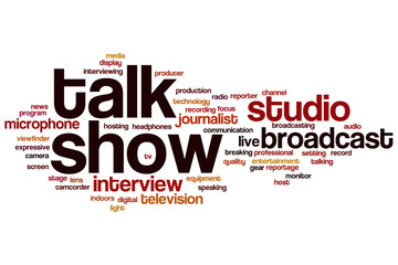 Talk show word cloud