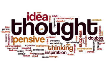 Thought word cloud