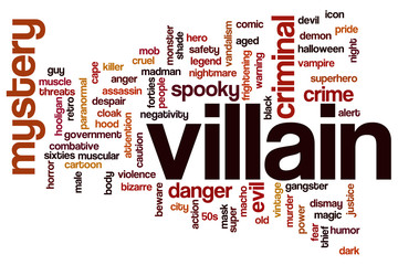 Villain word cloud