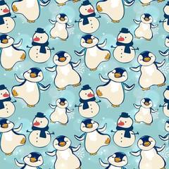penguin snowman pattern