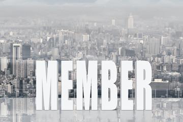 Concept of partner, assist, member