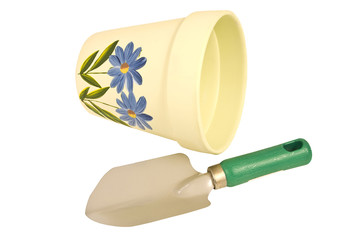 Small Flower Pot and Trowel
