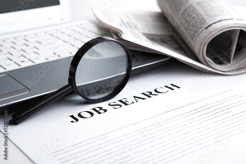document with the title of job search - 72427390