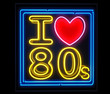 Leinwandbild Motiv I love the 80s neon