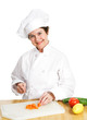 Chef Cuts Up Veggies