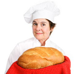 Chef with Fresh Bread
